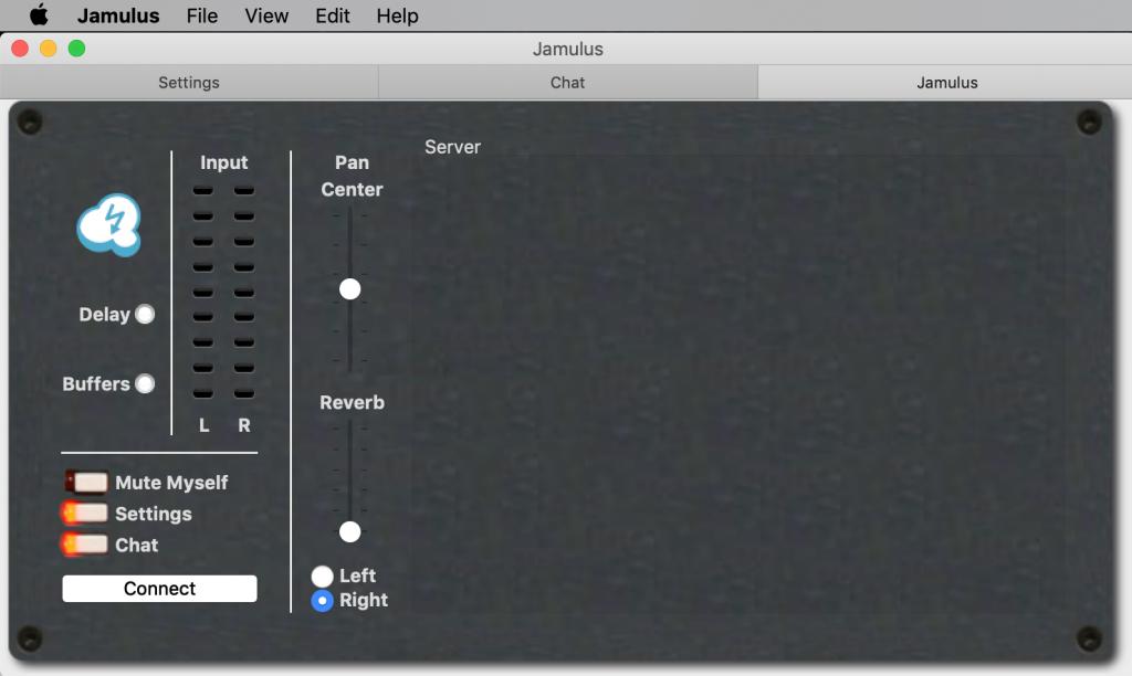 Jamulus: Ansicht unter macOS