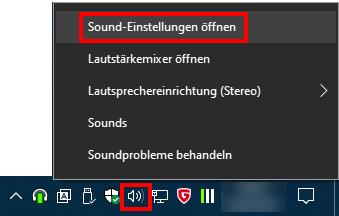 Windows: Sound-Einstellungen öffnen