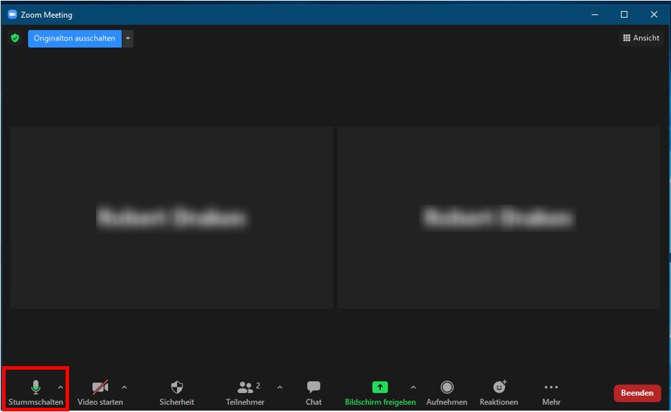 Weiterleitung von Jamulus nach Zoom: Mikrofon in Zoom-Session